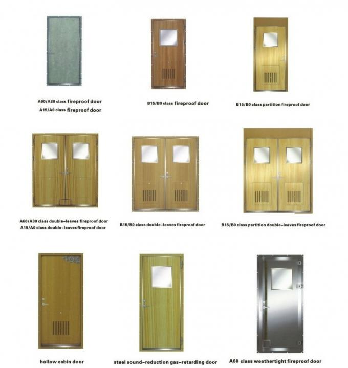Marine Cabin Accommodation Access Doors , Stainless Steel Gastight H120 Fire Proof