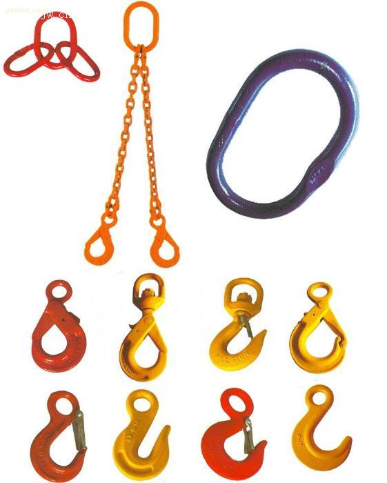 Alloy Steel Rubber Elements , Forged Compact Lifting Swivel Hooks