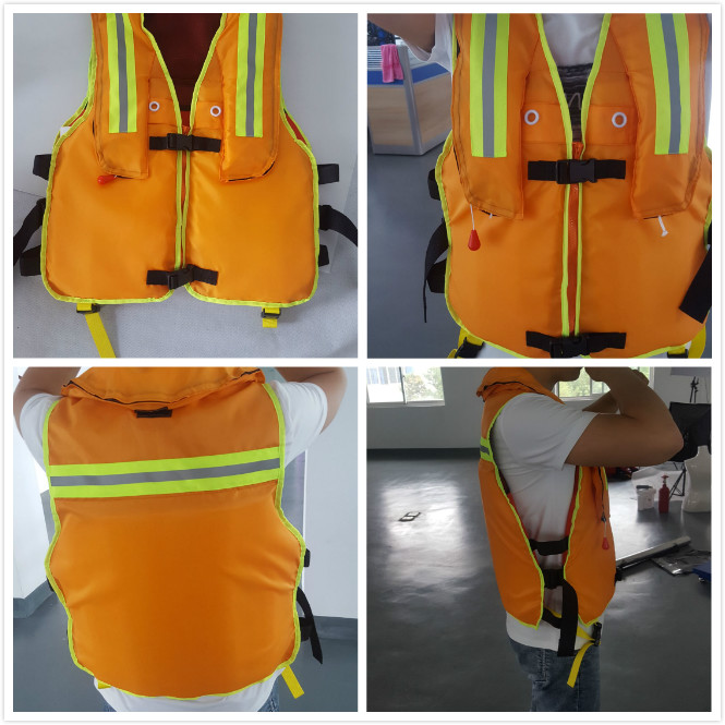 Customized Emulsified Foam Marine Life Saving Equipment Safety Inflatable Life Jackets