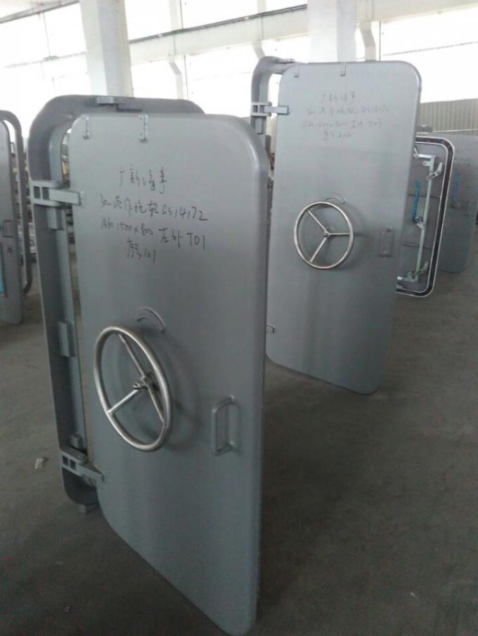 A60 Marine Doors Fire Proof Single Leaf Wheel Handle Watertight Steel Doors