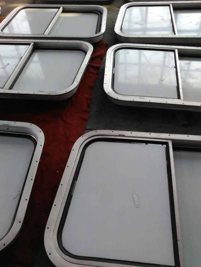 Bolted / Welded Rectanglar Marine Windows / Marine Ships Aluminum Alloy Window