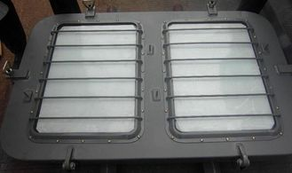 China Carbon Steel Marine Windows , Horizontal Engine Room Skylight supplier