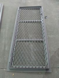 China Double Opening Square Angle Marine Wire Mesh Door 8 mm Thickness supplier