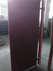 China Accommodation Boat Marine Access Doors Red Finish Paint 10mm Thickness supplier