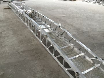 China 12-58 Steps Aluminum Alloy Marine Boarding Ladder Accommodation Ladder supplier