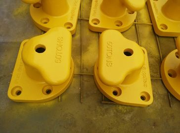 China Yellow Mooring Components Marine Single Tee Head Dock Bollard supplier