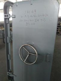 China Watertight Steel Marine Doors Wheel Handle Quick Opening 8mm Leaf Thickness supplier