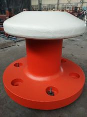 China Cast Steel Mooring Components Round Head Marine Mooring Bollard 5 - 200 Ton SWL supplier