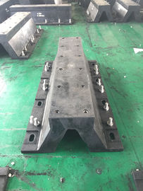 China Marine Arch Type Rubber Boat Dock Bumpers Mounted Impingement PE Face Plate supplier