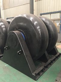 China Large Loading Double Roller Wheel Type Marine Roller Wheel Rubber Fender supplier