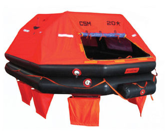 China Life-Saving Unit SOLAS Inflatable Marine Life Rafts For Vessel Sailing supplier