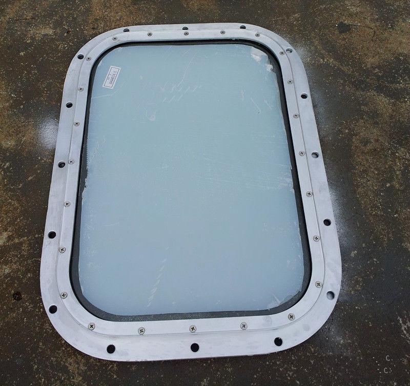 Brass Fixed Rectangular Marine Glass Windows Custom