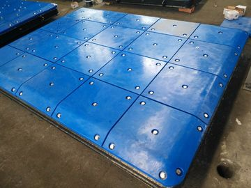 China Customized Impingement Sheet Marine Panels Bolted With UHMW - PE Face Pads distributor